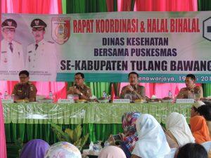 RAKOR- Rakor Dinas Kesehatan sekaligus Halal Bi Halalayang digelar di Banjarmargo