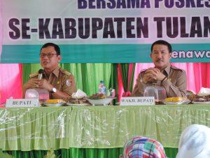 BERI ARAHAN - Bupati Tuba Ir Hanan A Rozak didampingi Wakil Bupati Heri Wardoyo saat memberikan arahan dalam Rakor Dinas Kesehatan yang dilaksanakan di Banjarmargo