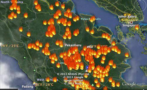 titik api di sumatera