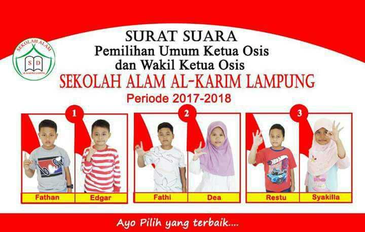 Sekolah Alam Al Karim Lampung Gelar Pemilihan Ketua Osis
